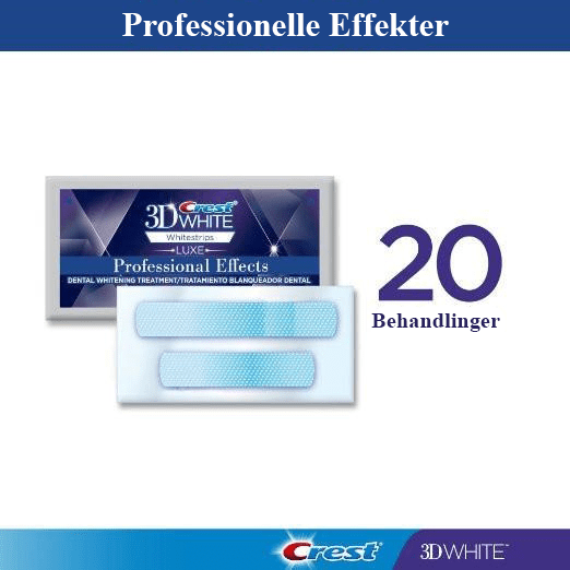 Professional Effects Whitestrips - 20 poser